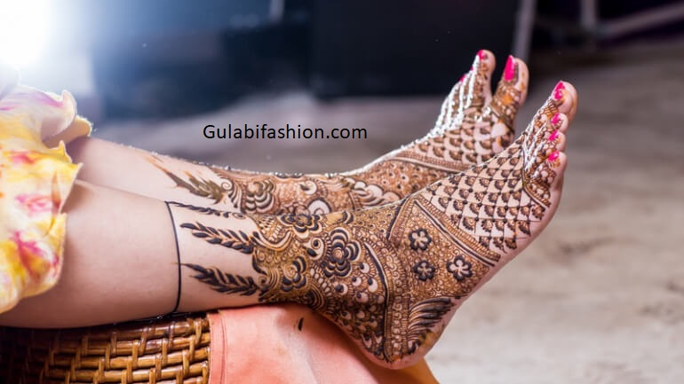 foot mehndi design